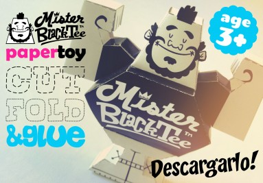Télécharger Mister Black Tee PaperToy