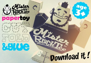 Download Mister Black Tee PaperToy